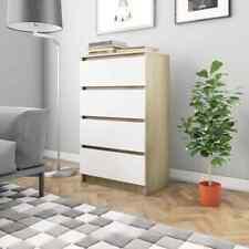 Credenza moderna in legno cassettiera con 4 cassetti 60x35x98,5 cm colori vari