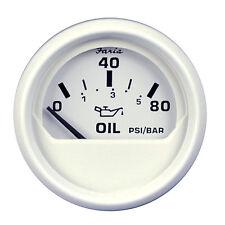 """Faria Dress White 2"""" Oil Pressure Gauge - 80 PSI"""