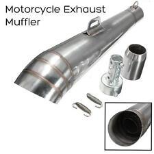 Universale moto scarico in acciaio inox silenziatore slip Via Bike 51 millimetri