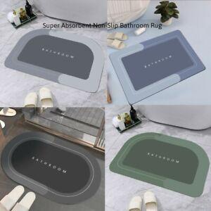 Super Absorbent Non-Slip Floor Mat Bathroom Rug Soft Carpet Door Mats (40x60cm)