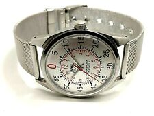 vintage hmt pilot hand winding men's steel made in India wrist watch