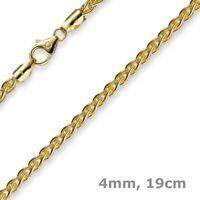 4mm Armband Armkette Zopfkette aus 750 Gold Gelbgold 19cm Unisex Goldarmband