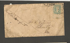 csa sc#11 f/vf+ with plate #1 &cds's on cover to palmetto georgia position piece