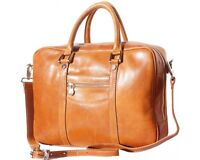 Italian Handmade Leather Briefcase Handcrafted in Florence Italy 7627
