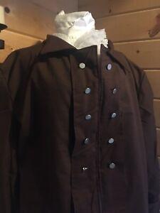 Colonial 18Th-Century Rev War Outlander Highlander Pirate Coat Shirt And Cravat