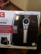 Chefman - Express 2.5L Digital Air Fryer - Black/Stainless Steel