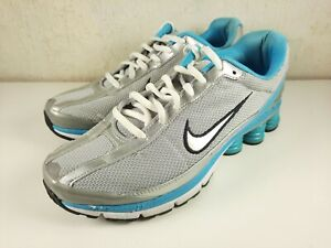 Nike Shox Turmoil Women's Shoes 366647-003 Silver Blue 2009 Size 7.5 US
