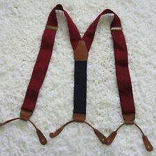 Brooks Brothers Suspenders Blue Red