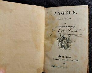 Livre ancien Angèle d'Alexandre DUMAS Bruxelles 1834 drame en 5 actes