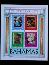 BAHAMAS '1976 ** MNH BF18 YT 3,00 EUR RELIGION,FAMOUS PAINTINGS,TABLEAUX