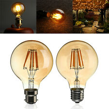 G80 Vintage Dimmable LED 6W Globe COB Edison Incandescent Light Bulb B22/E27