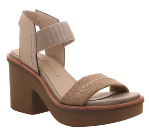 Naked Feet Basalt Light Taupe Ankle Strap Wedge Sandal Women's sizes 6-10/NEW