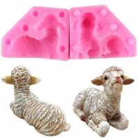 3D Little Lamb Sheep Baby Silicone Mold Soap Fondant Chocolate Cake Decor Mould