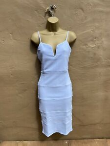 Ladies Summer Dresses Blue Size 10 Fitted Body Con Sexy Wedding Prom Party