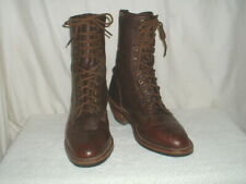 Mens Chippewa Lace Up Cowboy Work Boots Spur Ledge Size 7.5D Made in US