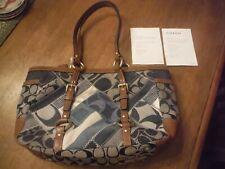 Coach Blue Denim Patchwork Satchel/ Handbag 100% Authentic, BRAND NEW!