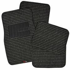 Black Heavy Duty Woven Berber Carpet Car Floor Mats Front Rear 4PC