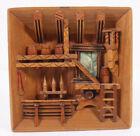 German Swiss Alps Mountain Cabin 3D Keg Brewery 7 Folk Art Hand Made Diorama