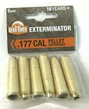 Bear River/Black .177 Ops Exterminator BB Revolver Cartridges -  6 Shells C17