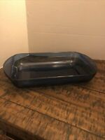 Anchor Hocking Vintage 8x11 Colbalt Blue Glass Lasagna Cassarole Dish Pan