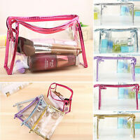 Unisex Clear Toiletry Cosmetic Transparent PVC Bag Travel Makeup Bag Waterproof