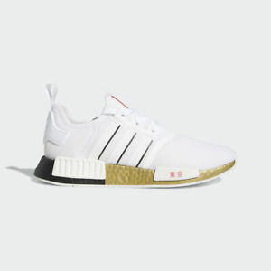Adidas Originals NMD R1 TOKYO Gold White Black Red FY1159 Olympics Running Shoes