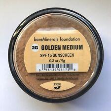 Bare Escentuals BareMinerals ID GOLDEN MEDIUM 2G SPF15 Foundation LARGE I.D