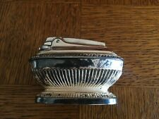 Vintage Ronson Footed Ornate Table Lighter Silver Plate Queen Anne