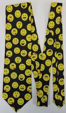 Smiley Faces Tie - Emoji Themed Novelty Necktie - Funny Faces Tie