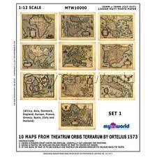 Set de 10 Maison de poupées miniature ancien cartes de XVIe siècle (oms1)