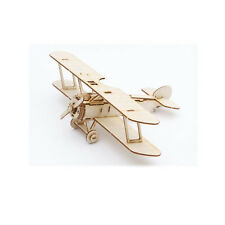 Wooden Model Kit Biplane Sopwith Camel Airplane 3D Woodcraft Construction Puzzle