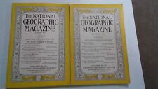 1933 NATIONAL GEOGRAPHIC MAGAZINES  2 ISSUES ALL DIFFERENT not complete (NG14)