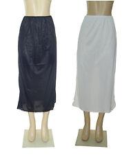 """36"""" Length Women Plain Long Half Slip 100% Polyester Size S M L XL 2X 3X 4X 5X"""