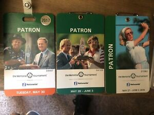 2017, 2018, & 2019 The Memorial Tournament Badges Collector ITEM all 3