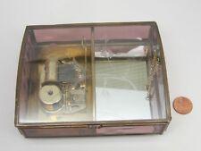 "Glass Hand Crafted Beautiful Flower Music Box&Jewelry Via Vermont 5""x4""/13x11cm"