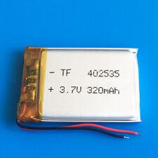 3.7v 320mAh Lipo Battery for MP3 DVD GPS headphone bluetooth Smart watch 402535