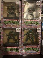 "Teenage Mutant Ninja Turtles TMN 8"" PCS Nickelodeon Figure Statue New Lot of 4"