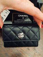 CHANEL WALLET Porte Cartes classic coin purse black