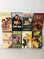 COMEDY MOVIES 8 PACK VHS MOVIE LOT RARE OOP HTF Mark Harmon Jim Carrey Pesci