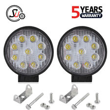 2X 27W 5Inch Spot Round LED Work Light Offroad Fog Driving DRL For SUV ATV Truck