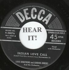 Louis Armstrong and Gordon Jenkins JAZZ (Decca 28076) Indian Love Chill/Jeannine