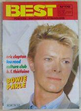 Revue BEST Mai 1983 David Bowie Clapton Lou Reed Culture Club