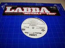 "LABBA MUTHA F*** THIS 12"" Single NM Jive JDAB-69876-1 2005 PROMO"