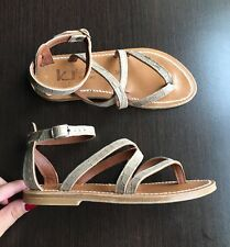 New K JACQUES Epicure sandals 35 UK 2 beige leather suede greek leather