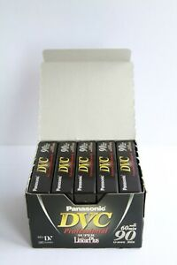 Panasonic DVC 60/90 min. Mini DV Digital video cassette Tapes 5 Pack in box NEW