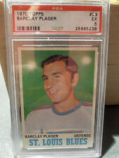 1970 Topps #99 Barclay Plager StLouis Blues Defense PSA 5 EX Hockey Trading Card