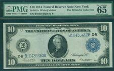 $10.00 FRN – New York, 1914, Fr. #911A, PMG Grade 65EPQ Gem UNC