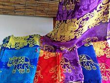 Bulk lot of 5 rayon sarongs.160 x 113cm.5 colours.New Elephant print.Cool.Design