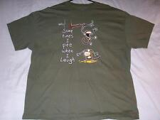 Sometimes I pee when I laugh Monkey Green Carbon T-Shirt Mens X-Large XL used