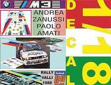 DECAL 1/18 BMW M3 ANDREA ZANUSSI RALLY VALLI 1988 (04)